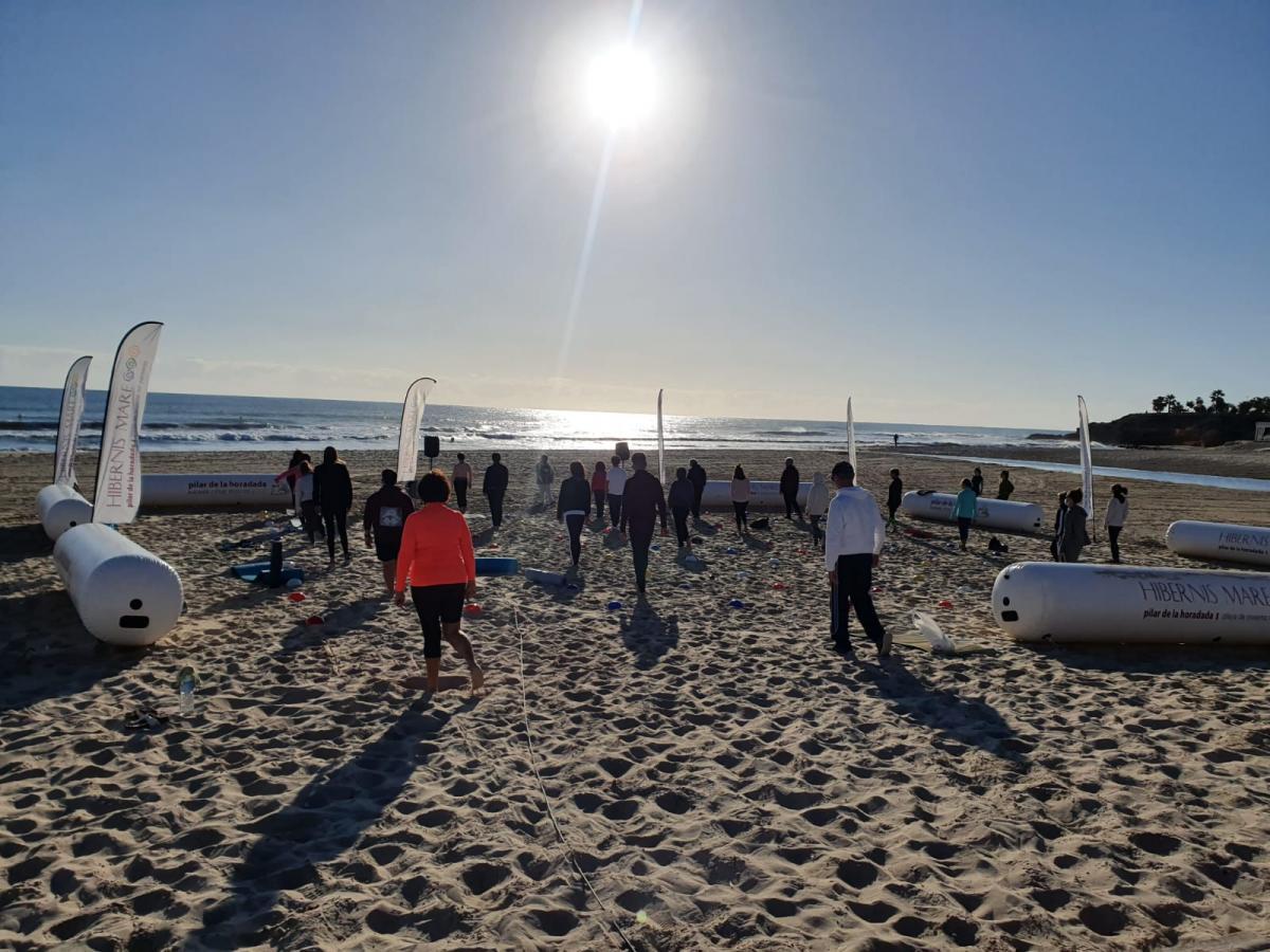 mens sana in corpore sano hibernis mare playa de invierno mil palmeras pilar de la horadada