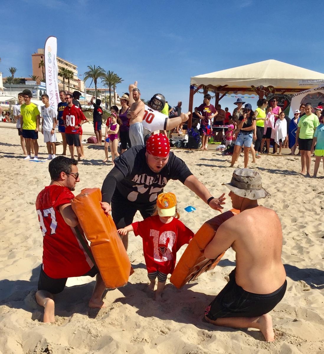 fútbol americano hibernis mare mil palmeras pilar de la horadada playa de invierno