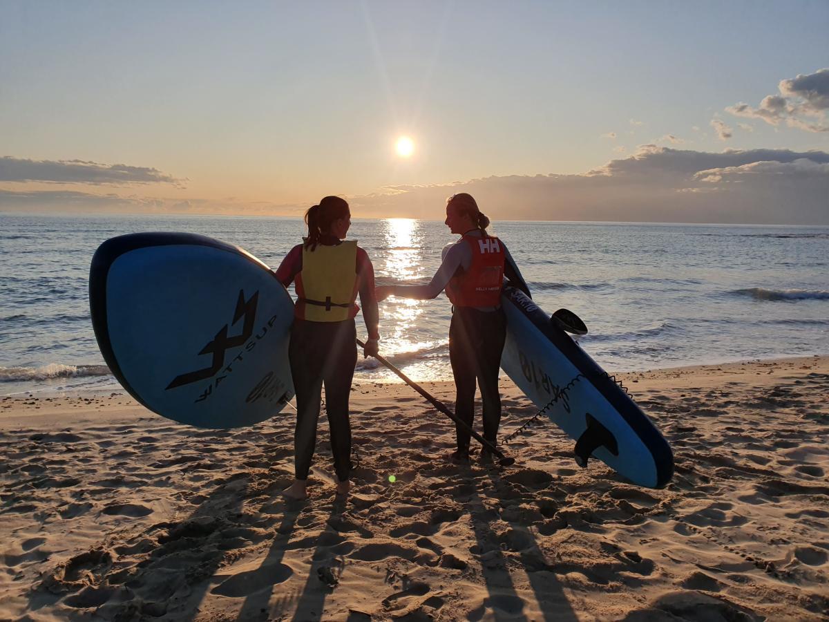 paddle sup hibernis mare mil palmeras pilar de la horadada playa de invierno