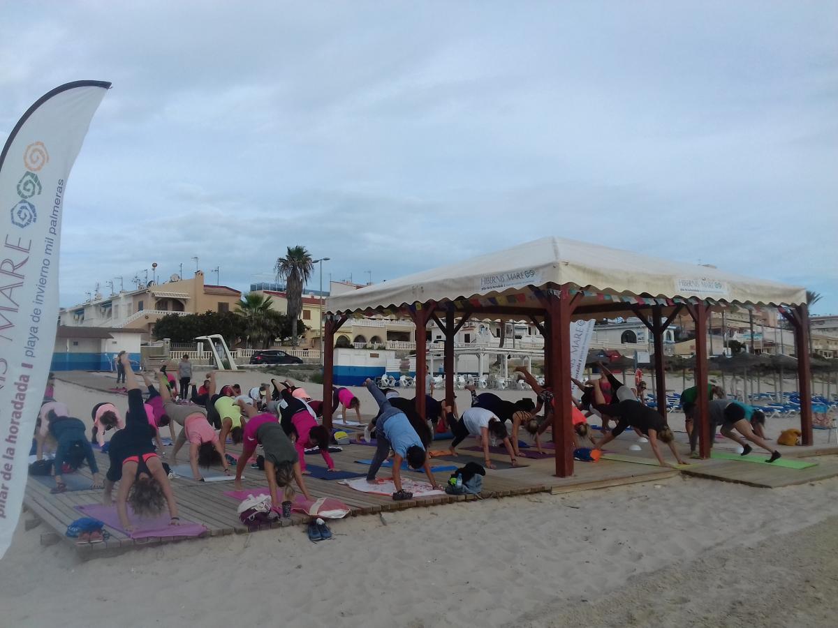 pilates hipopresivos hibernis mare mil palmeras pilar de la horadada playa de invierno